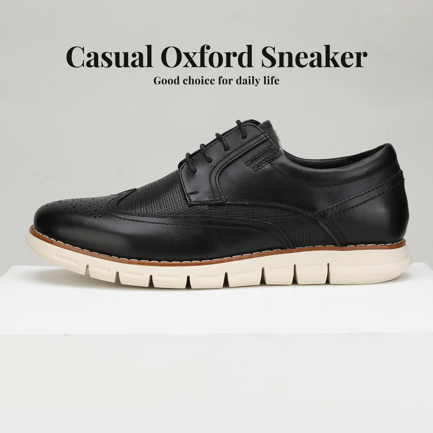 Men-s-Genuine-Leather-Casual-Formal-Sneakers-Lace-up-Business-Oxford-Dress-Shoes thumbnail 15