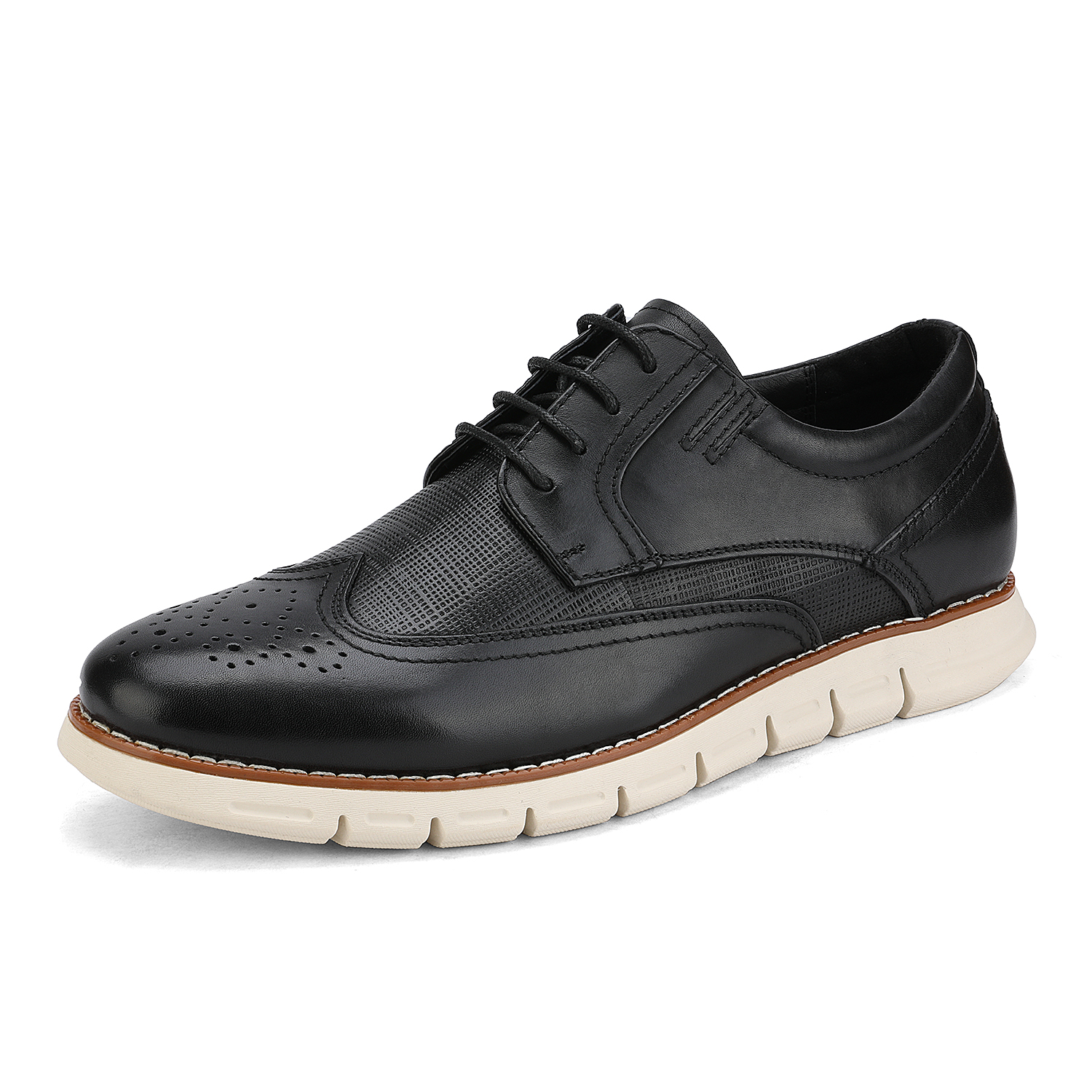 Men-s-Genuine-Leather-Casual-Formal-Sneakers-Lace-up-Business-Oxford-Dress-Shoes thumbnail 12
