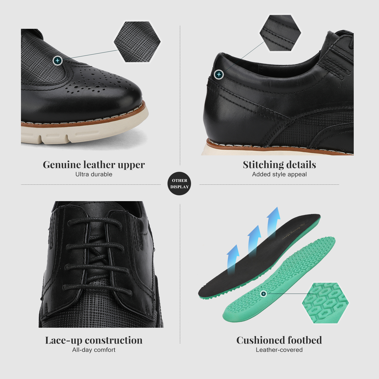 Men-s-Genuine-Leather-Casual-Formal-Sneakers-Lace-up-Business-Oxford-Dress-Shoes thumbnail 13