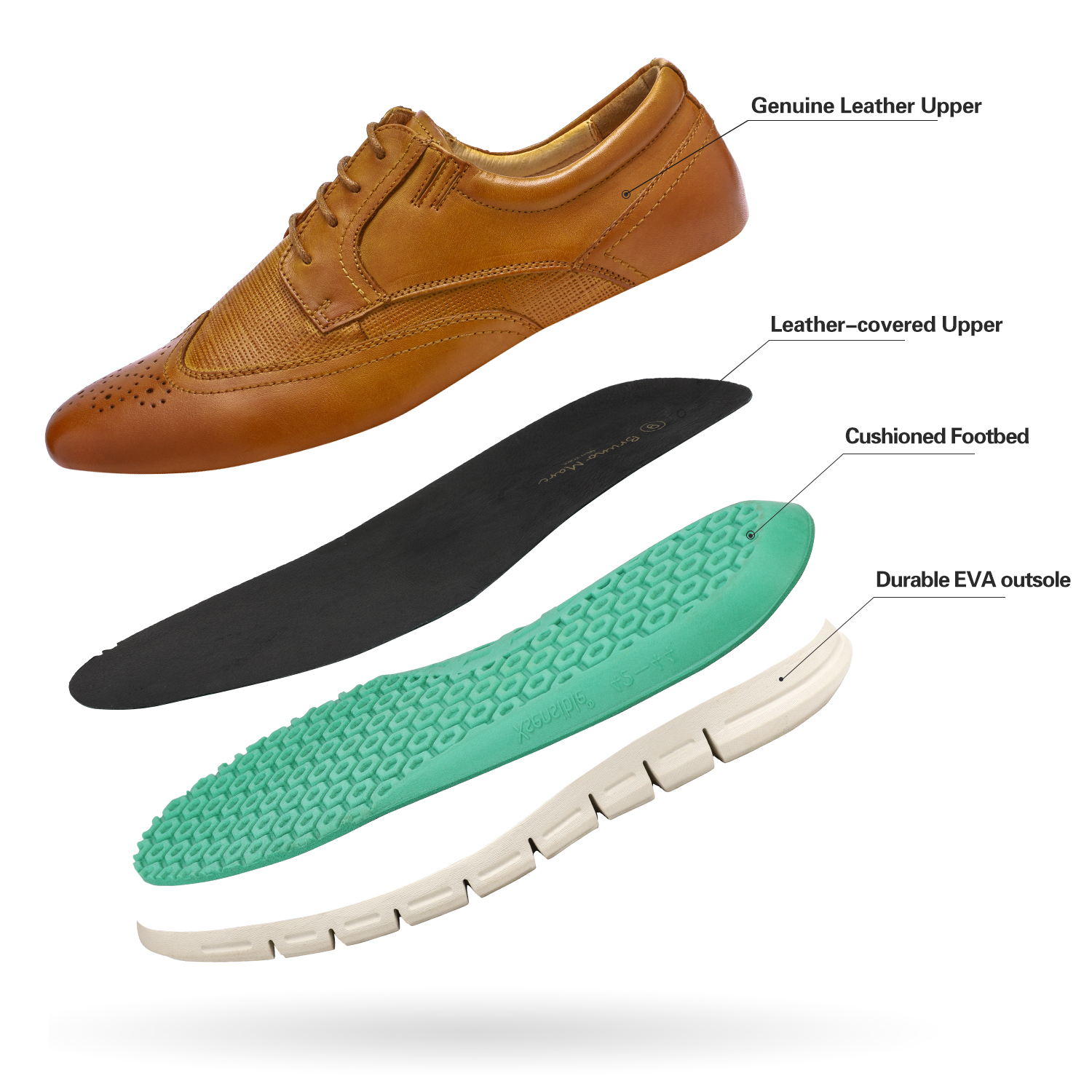 Men-s-Genuine-Leather-Casual-Formal-Sneakers-Lace-up-Business-Oxford-Dress-Shoes thumbnail 20