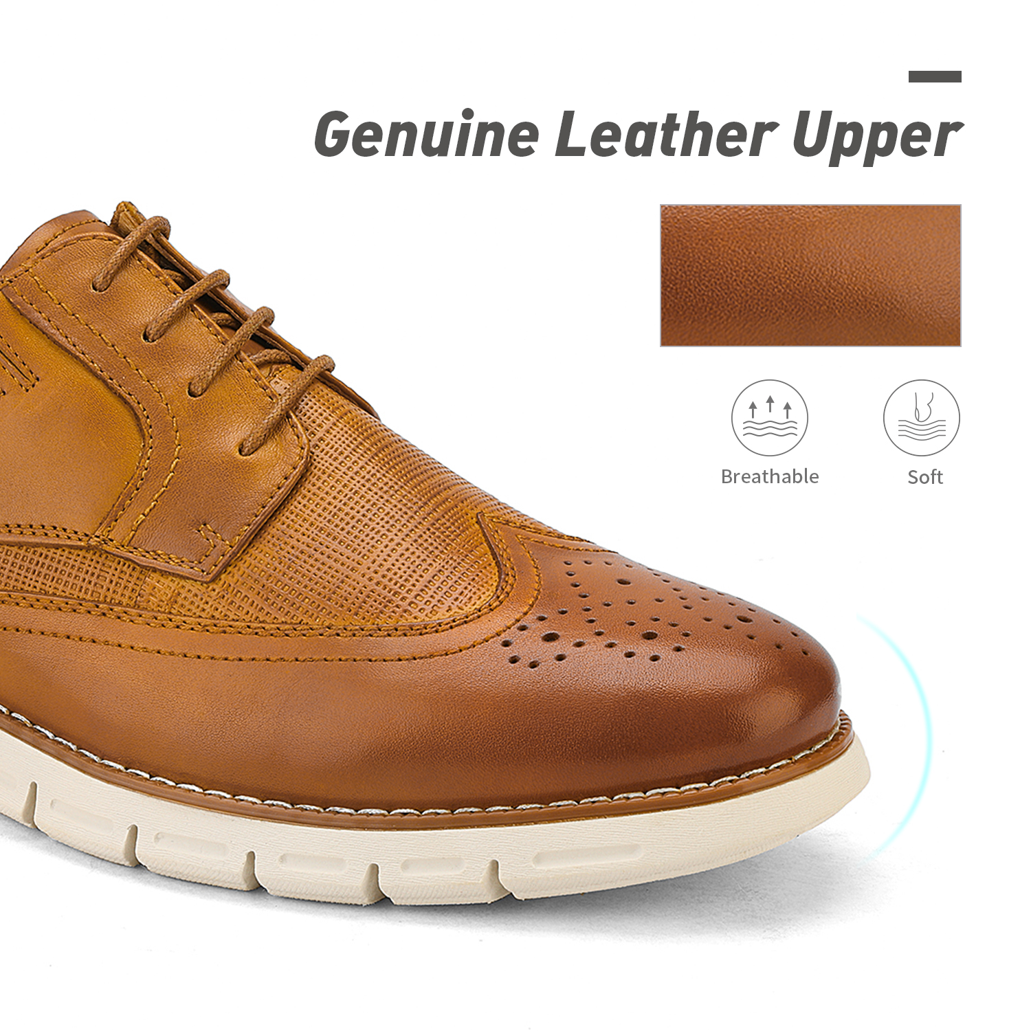 Men-s-Genuine-Leather-Casual-Formal-Sneakers-Lace-up-Business-Oxford-Dress-Shoes thumbnail 18