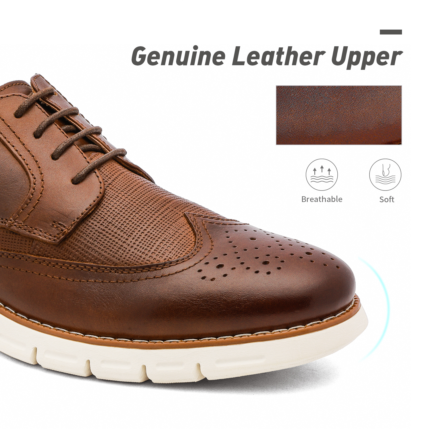 Men-s-Genuine-Leather-Casual-Formal-Sneakers-Lace-up-Business-Oxford-Dress-Shoes thumbnail 28