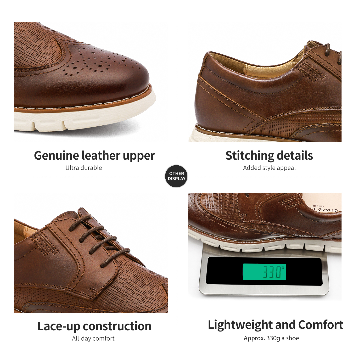 Men-s-Genuine-Leather-Casual-Formal-Sneakers-Lace-up-Business-Oxford-Dress-Shoes thumbnail 31