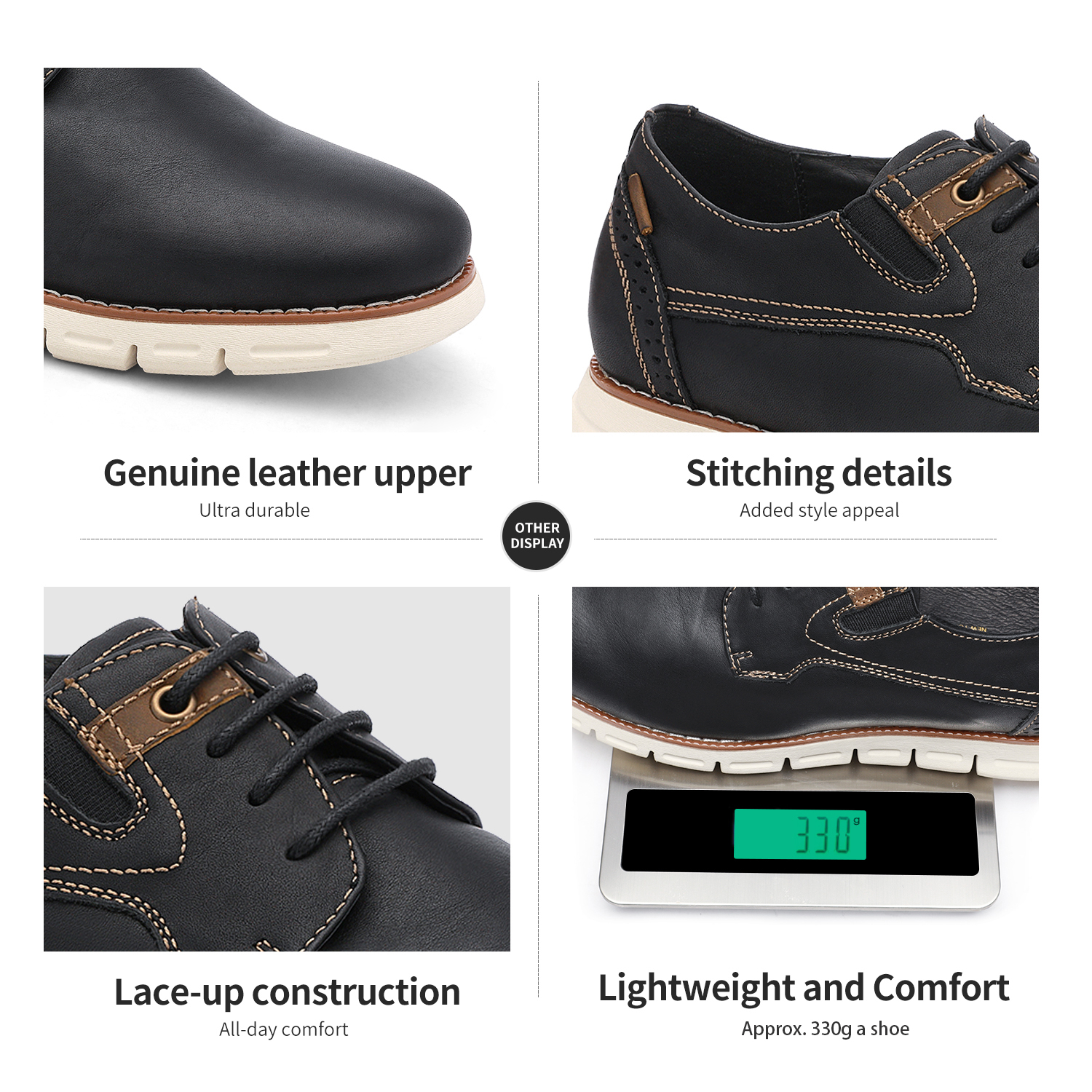 Men-s-Genuine-Leather-Casual-Formal-Sneakers-Lace-up-Business-Oxford-Dress-Shoes thumbnail 36