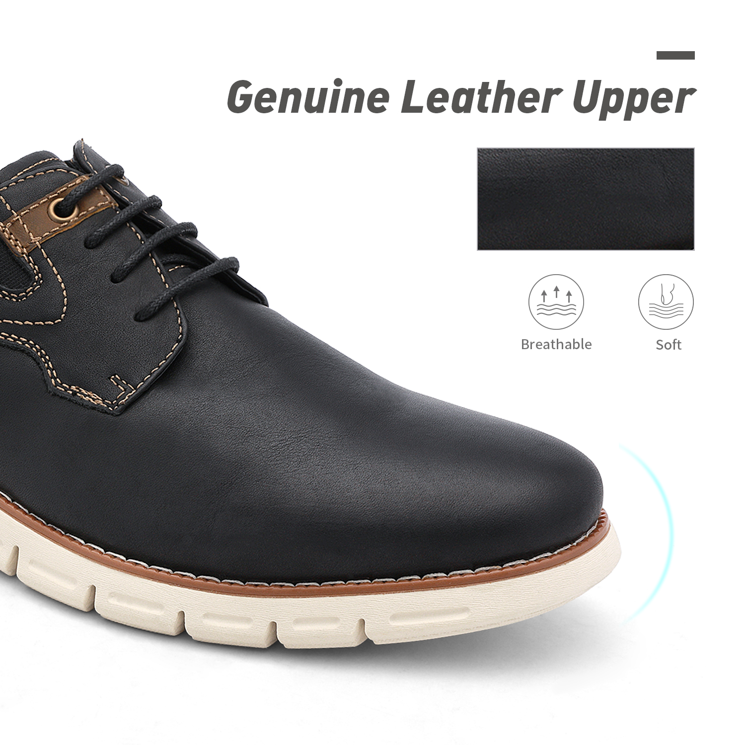 Men-s-Genuine-Leather-Casual-Formal-Sneakers-Lace-up-Business-Oxford-Dress-Shoes thumbnail 33