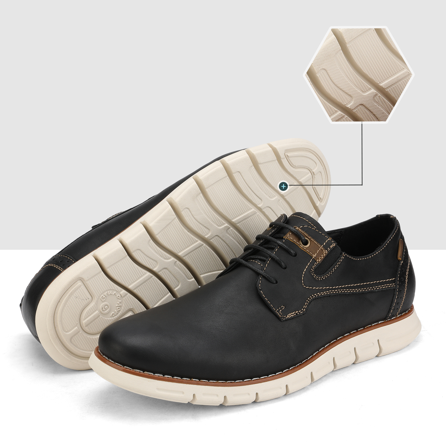 Men-s-Genuine-Leather-Casual-Formal-Sneakers-Lace-up-Business-Oxford-Dress-Shoes thumbnail 41