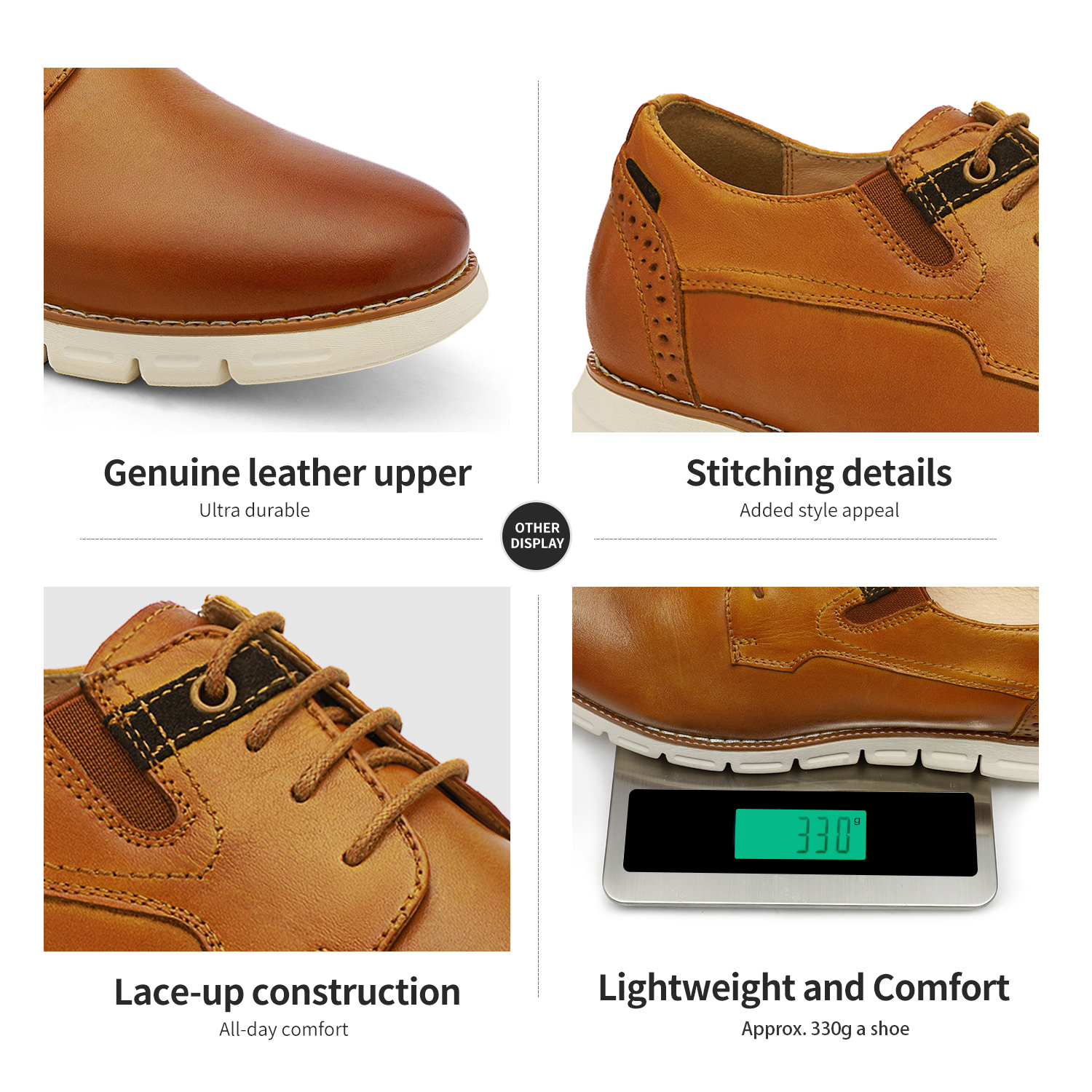 Men-s-Genuine-Leather-Casual-Formal-Sneakers-Lace-up-Business-Oxford-Dress-Shoes thumbnail 46