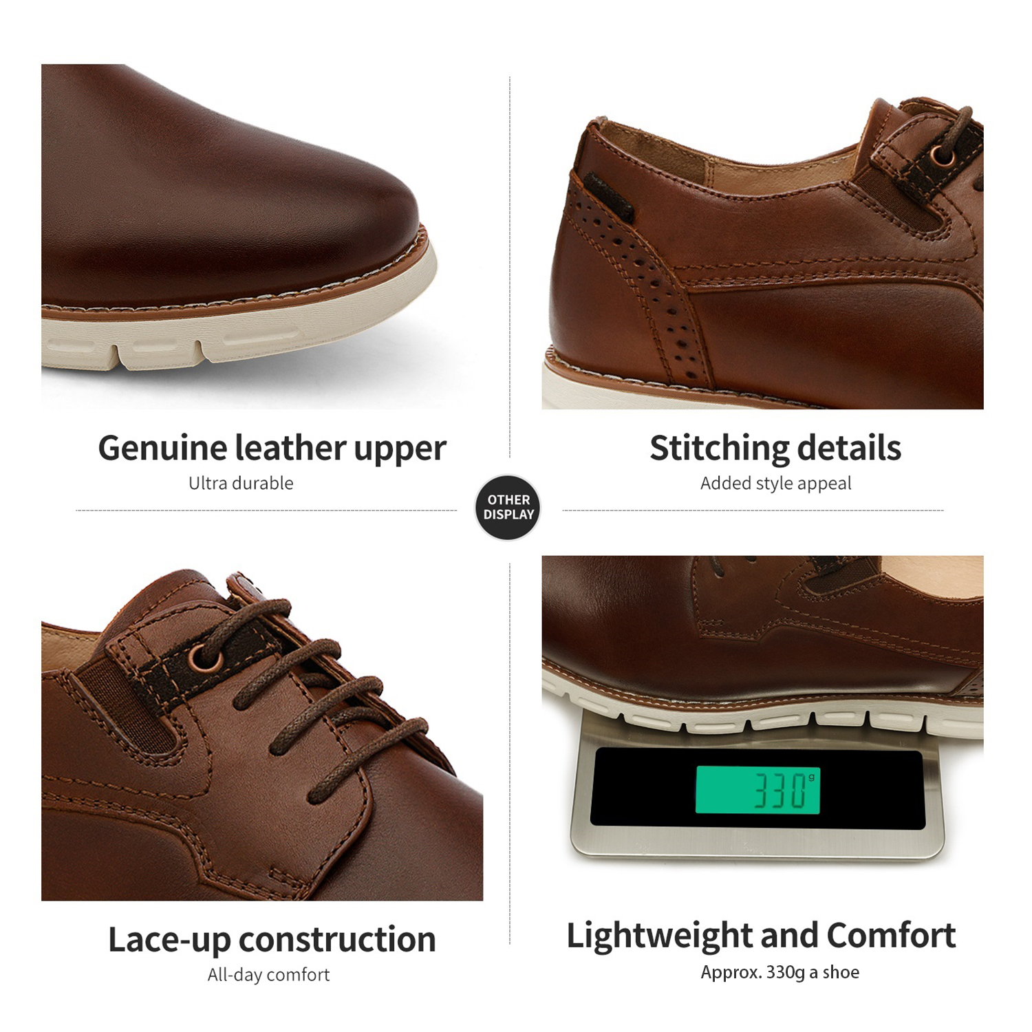 Men-s-Genuine-Leather-Casual-Formal-Sneakers-Lace-up-Business-Oxford-Dress-Shoes thumbnail 51