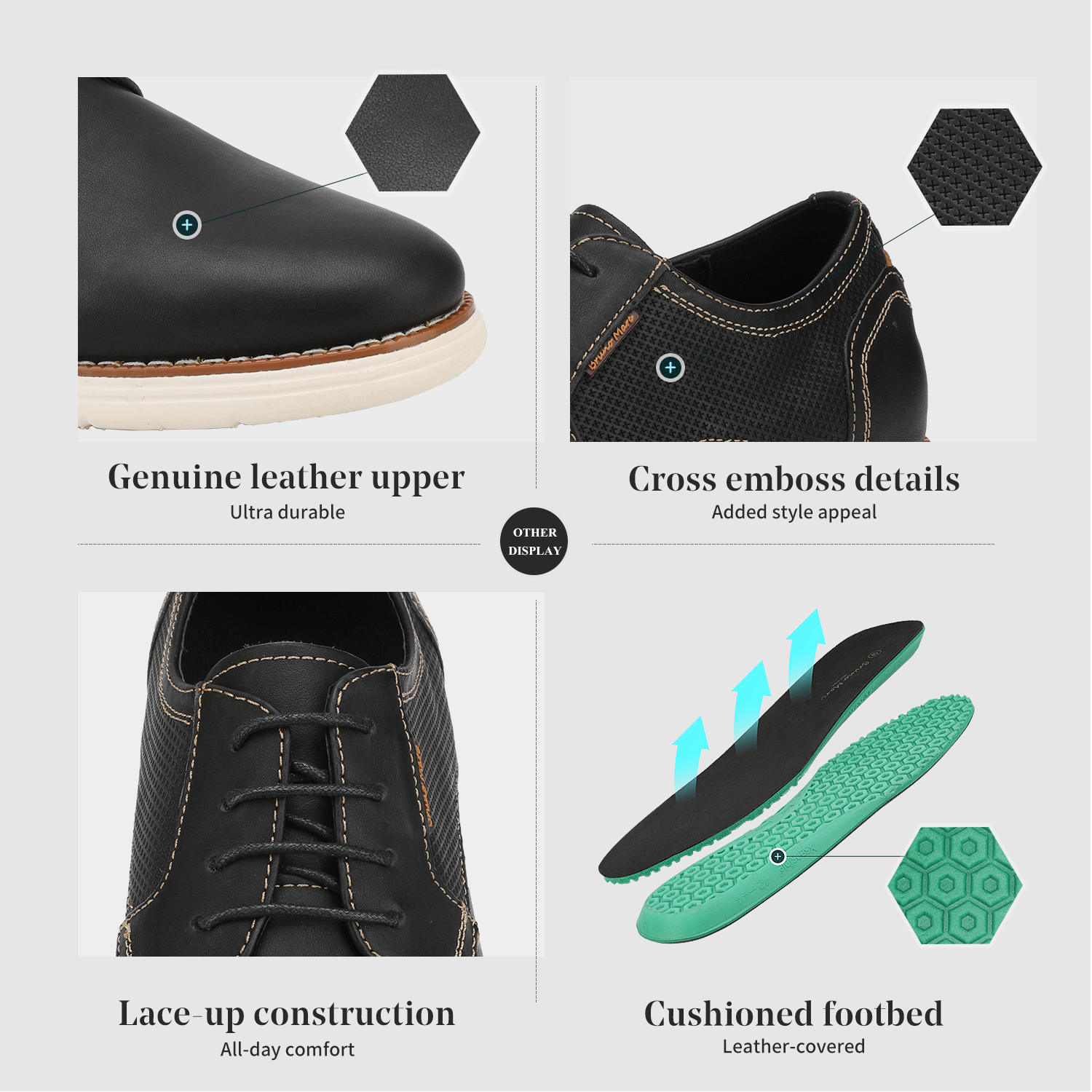 Mens-Fashion-Genuine-Leather-Business-Dress-Sneakers-Casual-Lace-up-Oxford-Shoe thumbnail 9