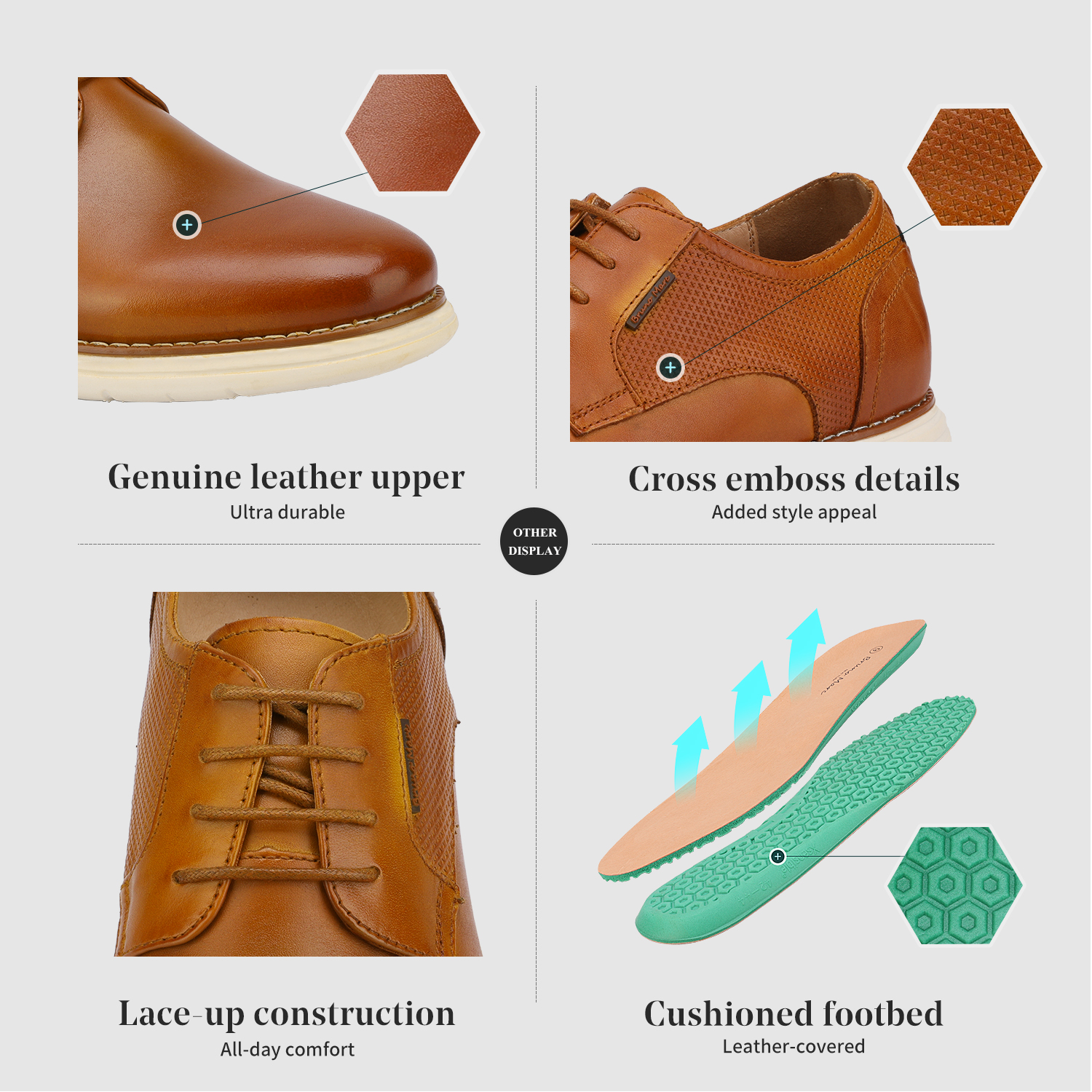 Mens-Fashion-Genuine-Leather-Business-Dress-Sneakers-Casual-Lace-up-Oxford-Shoe thumbnail 14