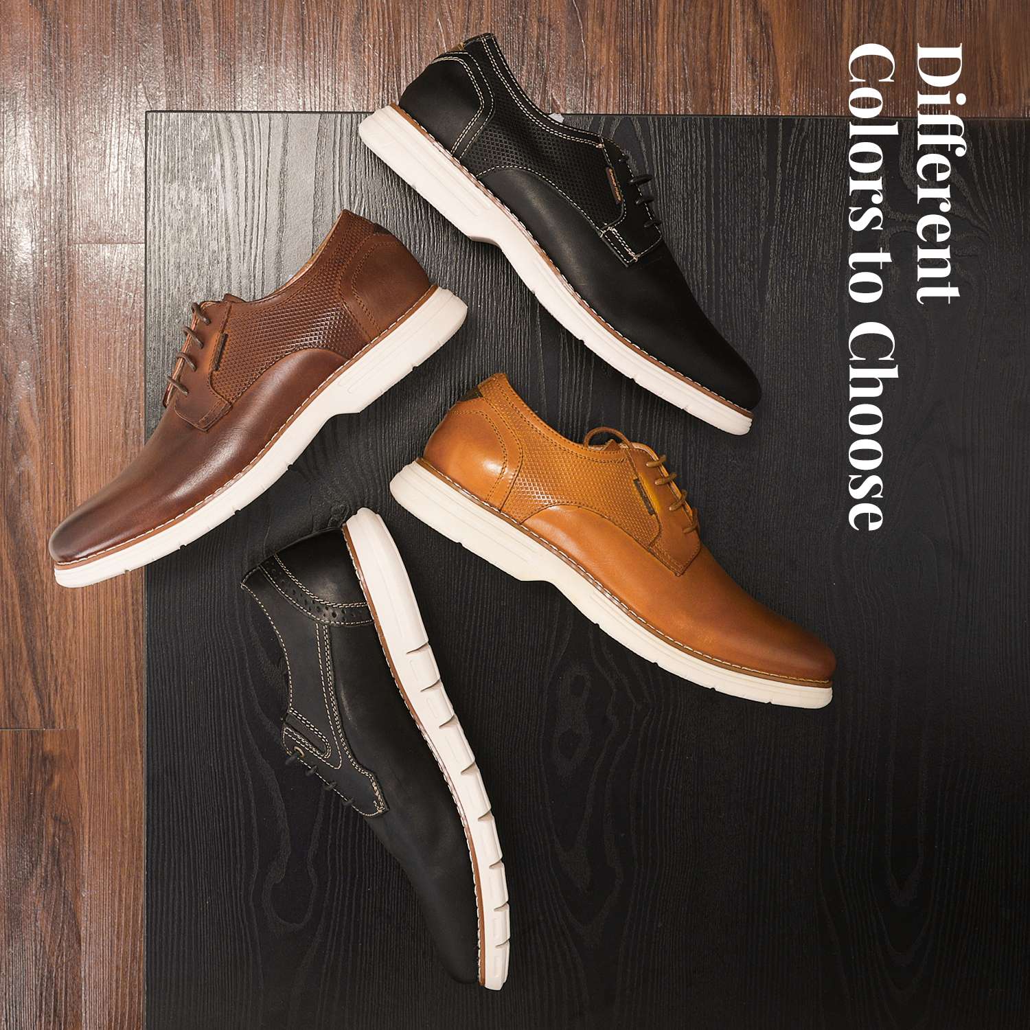 Mens-Fashion-Genuine-Leather-Business-Dress-Sneakers-Casual-Lace-up-Oxford-Shoe thumbnail 16