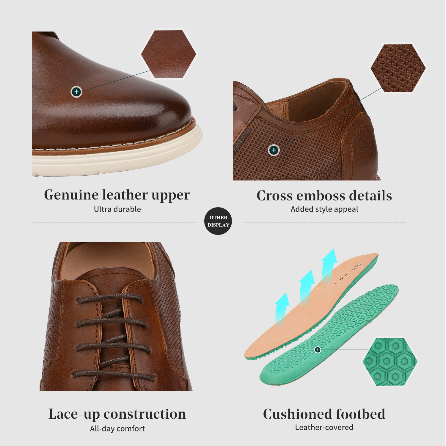 Mens-Fashion-Genuine-Leather-Business-Dress-Sneakers-Casual-Lace-up-Oxford-Shoe thumbnail 19