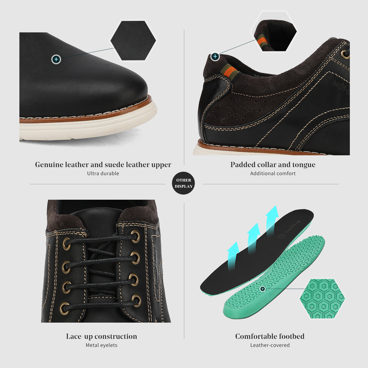 Mens-Fashion-Genuine-Leather-Business-Dress-Sneakers-Casual-Lace-up-Oxford-Shoe thumbnail 24