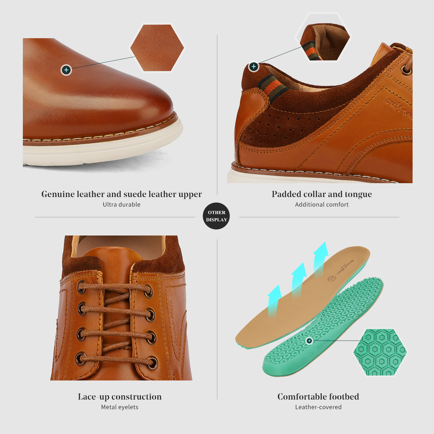 Mens-Fashion-Genuine-Leather-Business-Dress-Sneakers-Casual-Lace-up-Oxford-Shoe thumbnail 30
