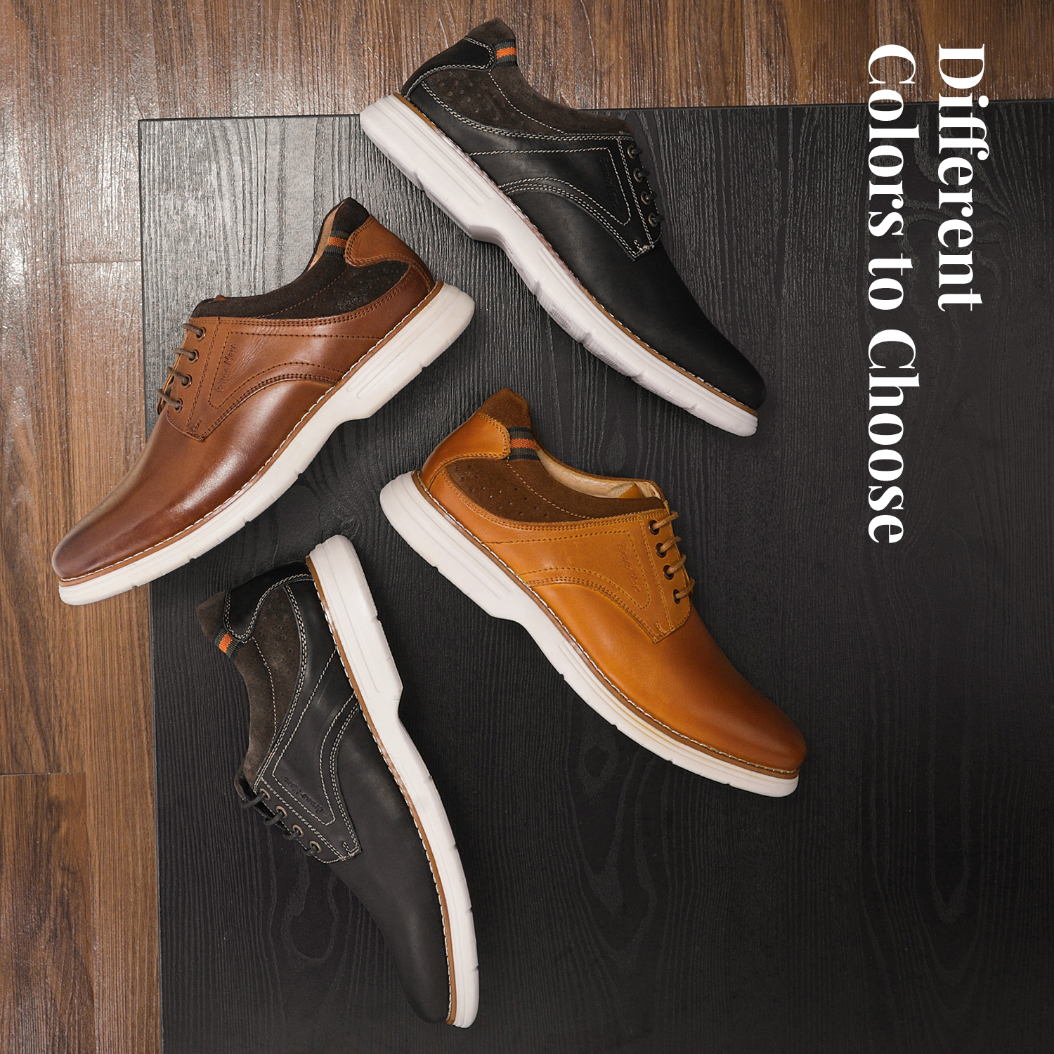 Mens-Fashion-Genuine-Leather-Business-Dress-Sneakers-Casual-Lace-up-Oxford-Shoe thumbnail 32