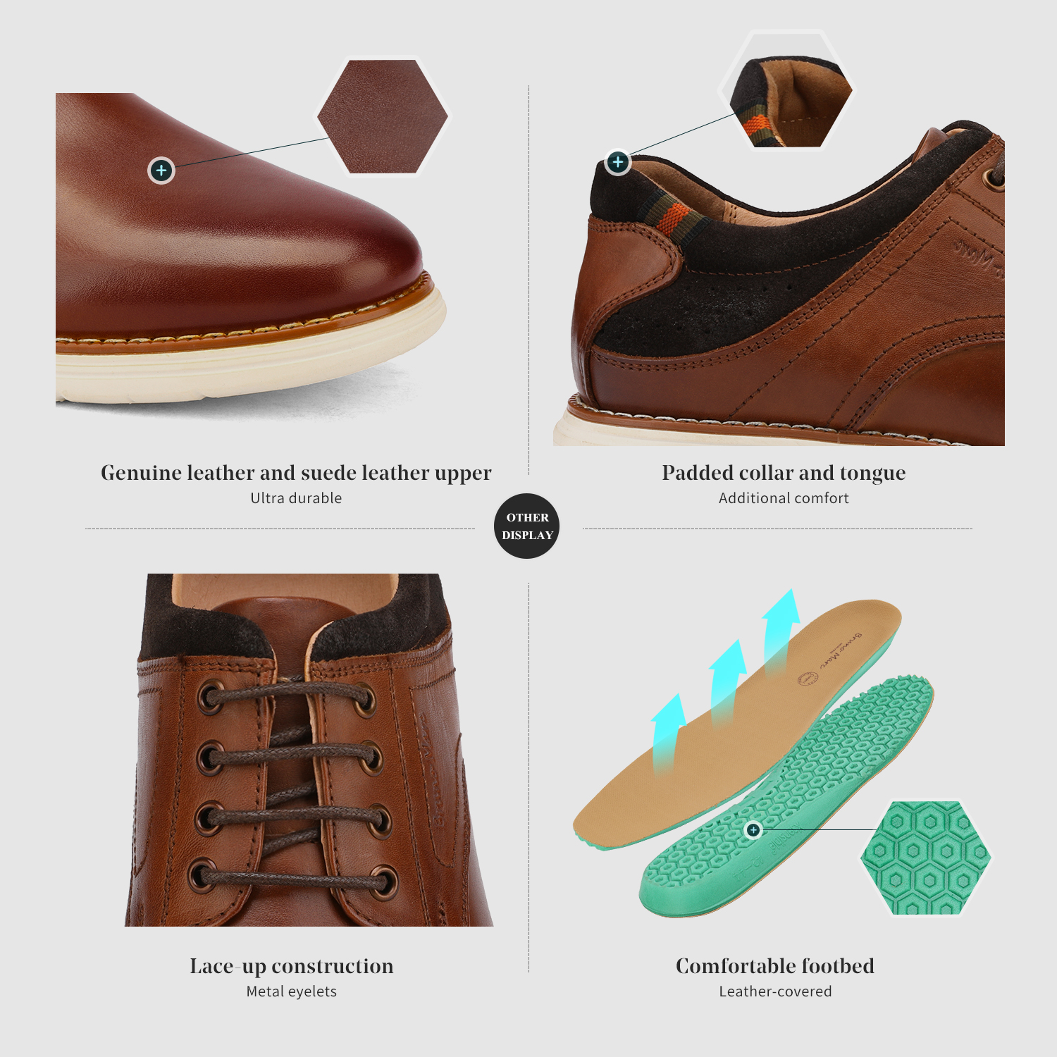 Mens-Fashion-Genuine-Leather-Business-Dress-Sneakers-Casual-Lace-up-Oxford-Shoe thumbnail 35