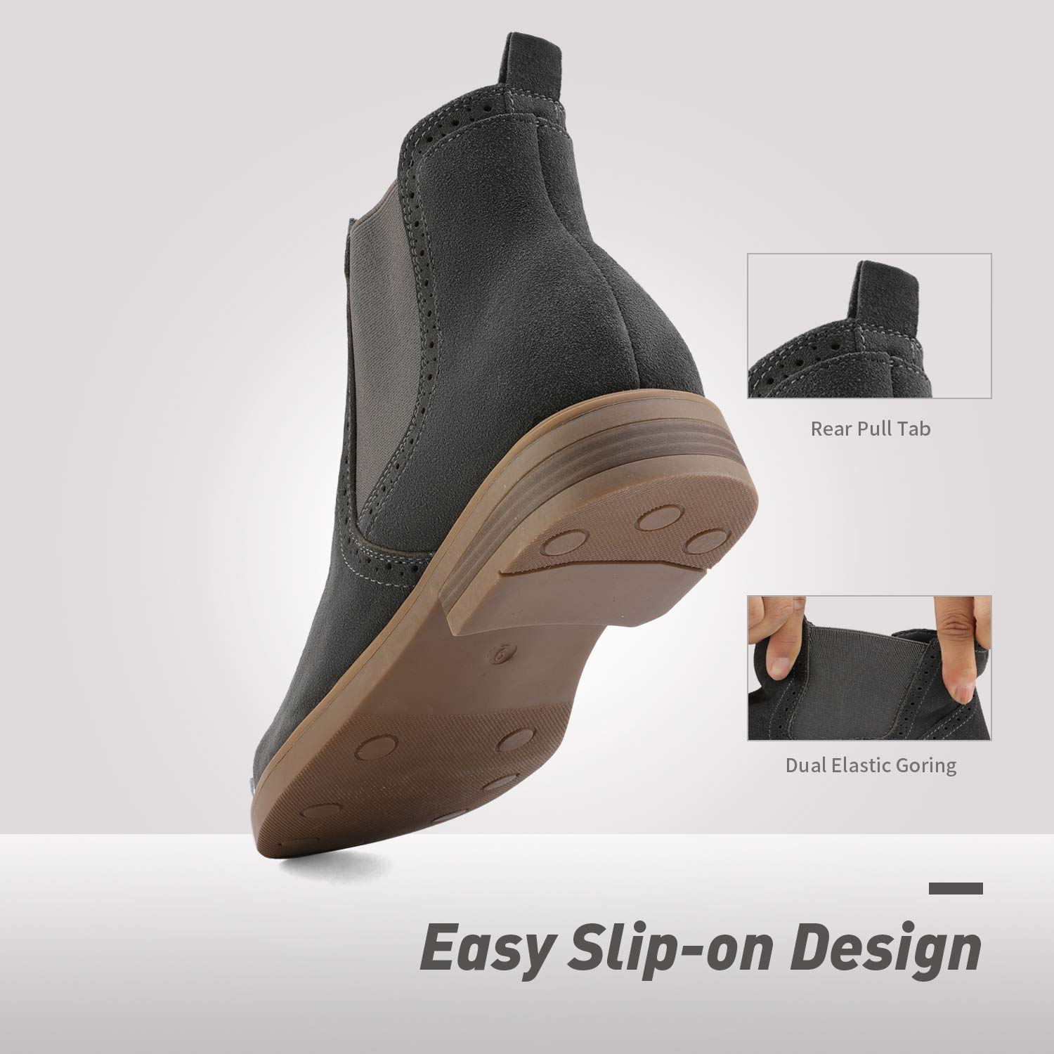 Bruno-Marc-US-Men-039-s-Suede-Leather-Casual-Dress-Ankle-Chukka-Chelsea-Boots-Shoes thumbnail 13
