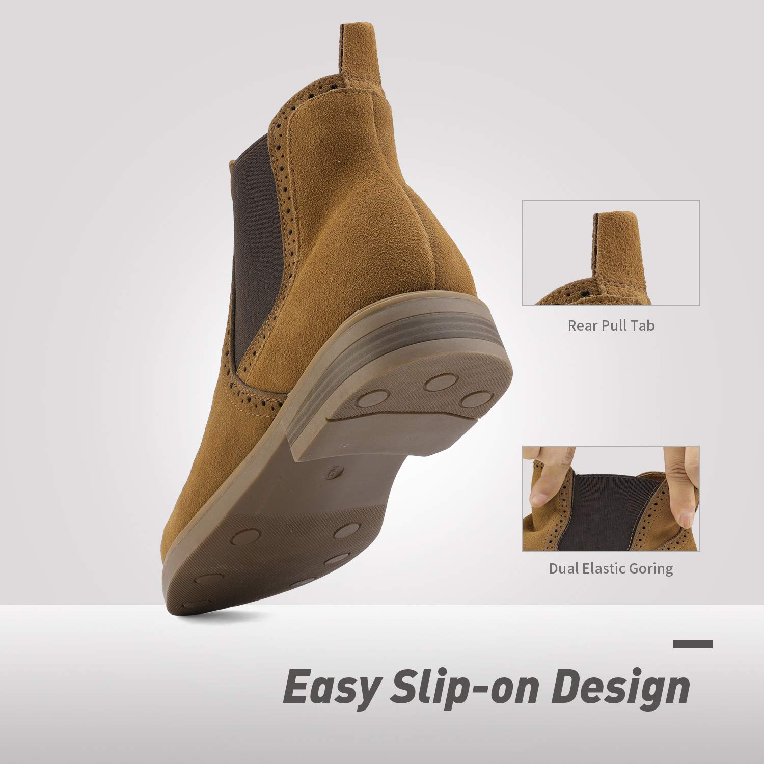 Bruno-Marc-US-Men-039-s-Suede-Leather-Casual-Dress-Ankle-Chukka-Chelsea-Boots-Shoes thumbnail 19