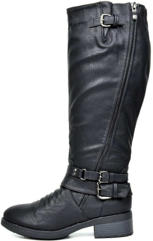 41e05e605b4c DREAM PAIRS Womens ATLANTA Knee High Faux Fur Riding Boots (Wide ...
