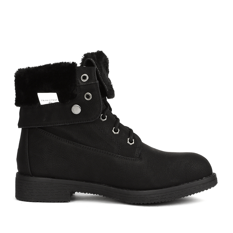 Women-Winter-Warm-Boots-Faux-Fur-Mid-Calf-Snow-Lace-Up-Fashion-Boots-Size-5-11 thumbnail 9