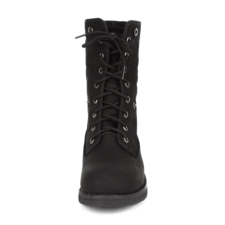 Women-Winter-Warm-Boots-Faux-Fur-Mid-Calf-Snow-Lace-Up-Fashion-Boots-Size-5-11 thumbnail 12