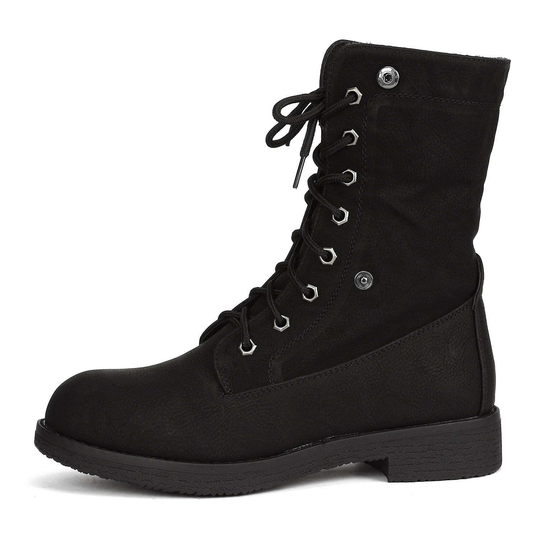 Women-Winter-Warm-Boots-Faux-Fur-Mid-Calf-Snow-Lace-Up-Fashion-Boots-Size-5-11 thumbnail 11