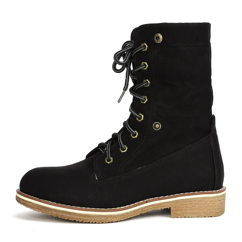 Women-Winter-Warm-Boots-Faux-Fur-Mid-Calf-Snow-Lace-Up-Fashion-Boots-Size-5-11 thumbnail 18