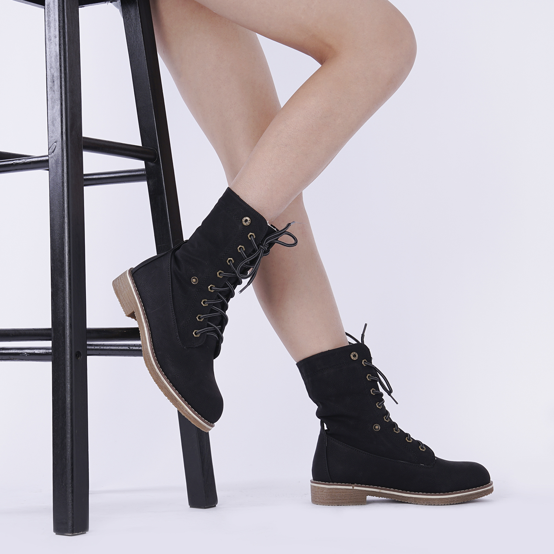 Women-Winter-Warm-Boots-Faux-Fur-Mid-Calf-Snow-Lace-Up-Fashion-Boots-Size-5-11 thumbnail 21