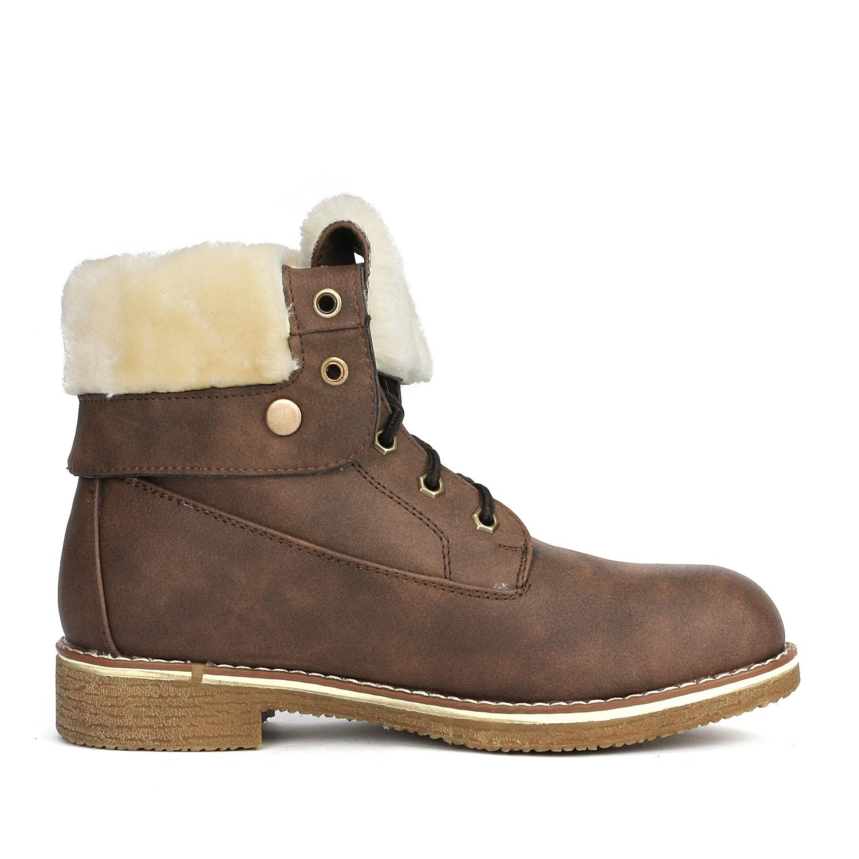 Women-Winter-Warm-Boots-Faux-Fur-Mid-Calf-Snow-Lace-Up-Fashion-Boots-Size-5-11 thumbnail 23