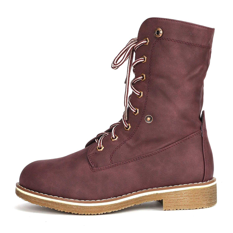 Women-Winter-Warm-Boots-Faux-Fur-Mid-Calf-Snow-Lace-Up-Fashion-Boots-Size-5-11 thumbnail 32