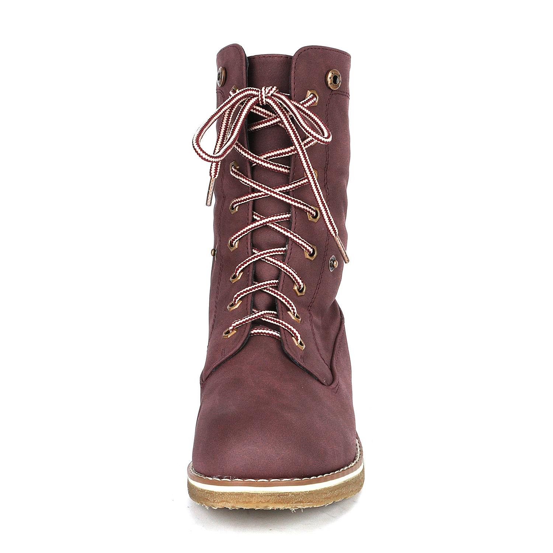 Women-Winter-Warm-Boots-Faux-Fur-Mid-Calf-Snow-Lace-Up-Fashion-Boots-Size-5-11 thumbnail 33