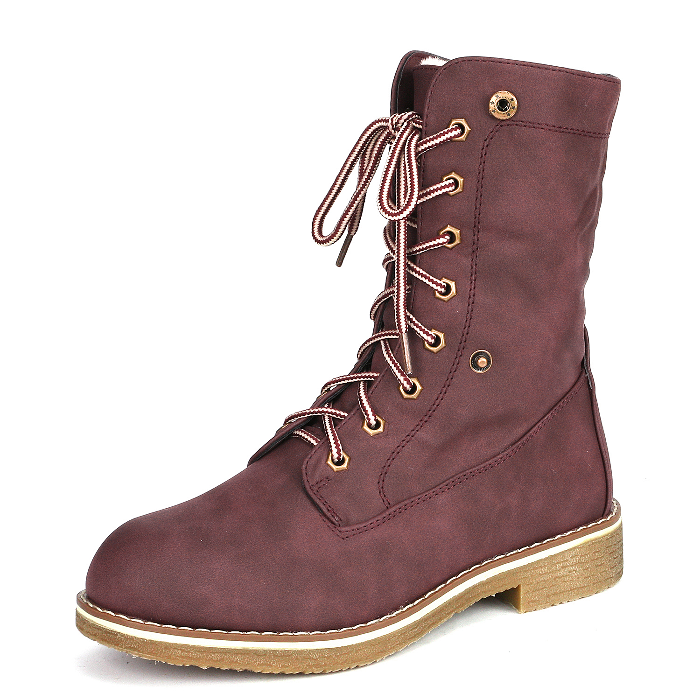 Women-Winter-Warm-Boots-Faux-Fur-Mid-Calf-Snow-Lace-Up-Fashion-Boots-Size-5-11 thumbnail 31