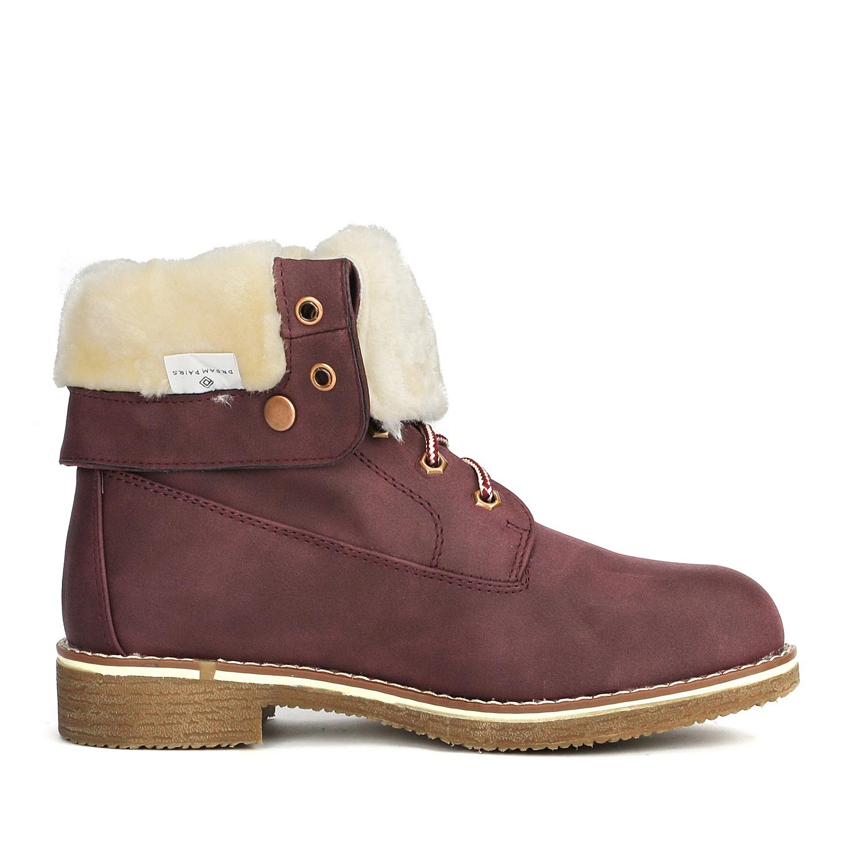 Women-Winter-Warm-Boots-Faux-Fur-Mid-Calf-Snow-Lace-Up-Fashion-Boots-Size-5-11 thumbnail 30