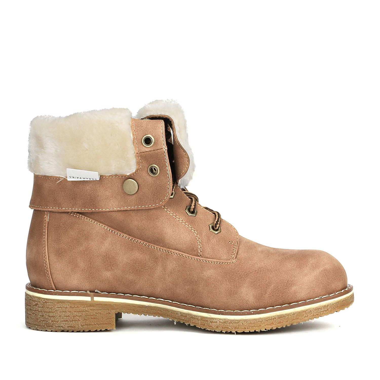 Women-Winter-Warm-Boots-Faux-Fur-Mid-Calf-Snow-Lace-Up-Fashion-Boots-Size-5-11 thumbnail 37