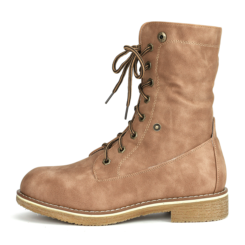 Women-Winter-Warm-Boots-Faux-Fur-Mid-Calf-Snow-Lace-Up-Fashion-Boots-Size-5-11 thumbnail 39