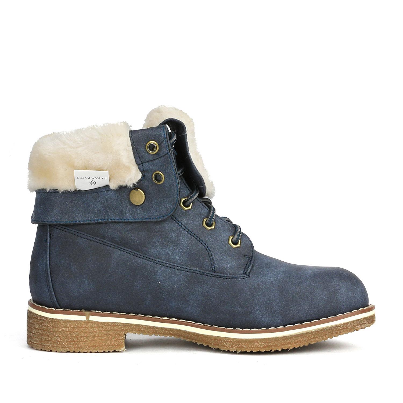 Women-Winter-Warm-Boots-Faux-Fur-Mid-Calf-Snow-Lace-Up-Fashion-Boots-Size-5-11 thumbnail 44
