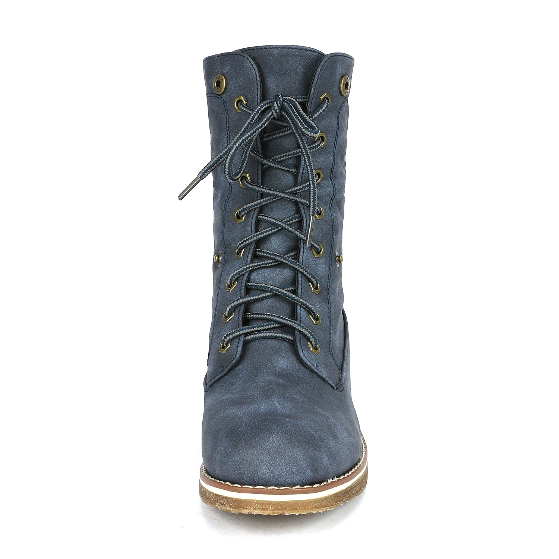 Women-Winter-Warm-Boots-Faux-Fur-Mid-Calf-Snow-Lace-Up-Fashion-Boots-Size-5-11 thumbnail 47