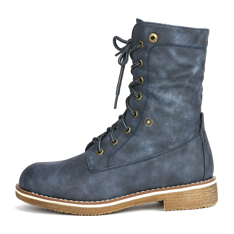 Women-Winter-Warm-Boots-Faux-Fur-Mid-Calf-Snow-Lace-Up-Fashion-Boots-Size-5-11 thumbnail 46