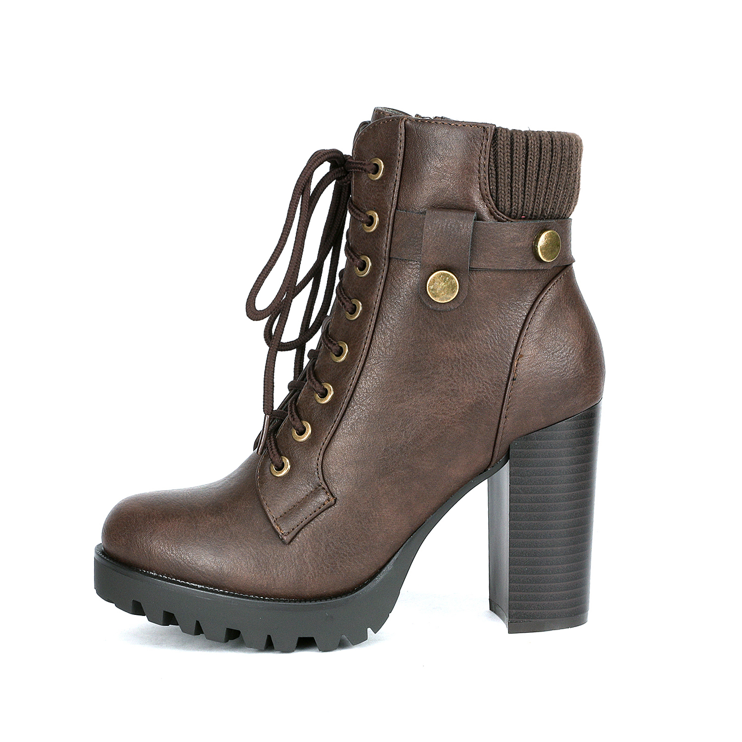 DREAM PAIRS Damens's Damens's Damens's SCANDL Fashion Chunky Lace up Heel Ankle High 249c75