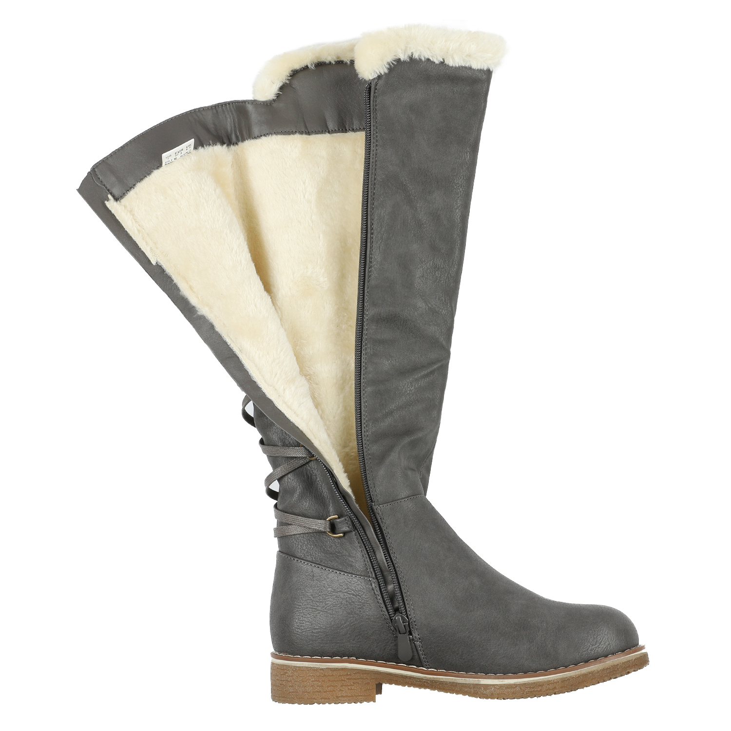 DREAM-PAIRS-Womens-Knee-High-Faux-Fur-Lined-Winter-Snow-Lace-Up-Zip-Combat-Boots thumbnail 19