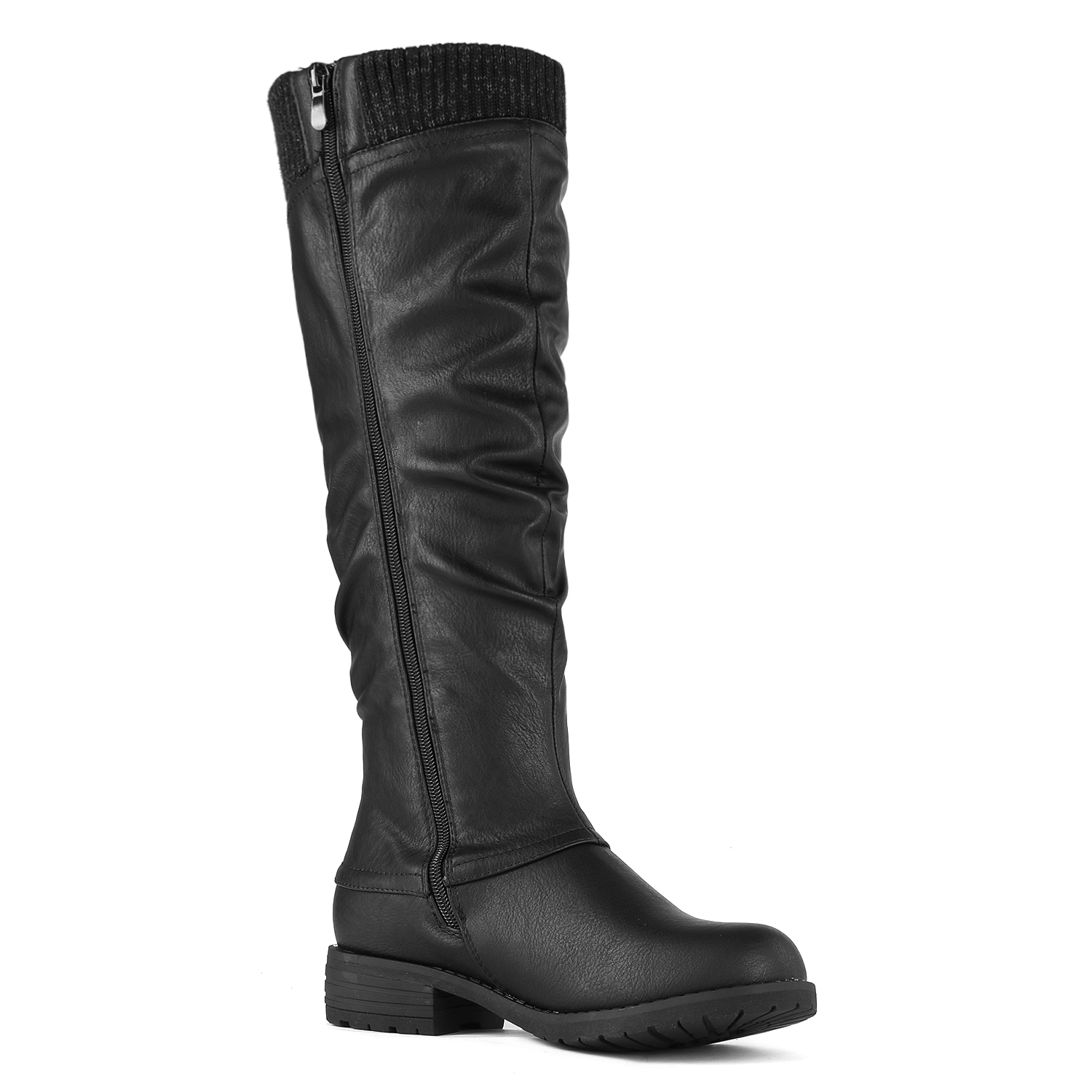 DREAM-PAIRS-Womens-DEPP-Cowgirl-Soft-PU-Leather-Combat-Knee-High-Riding-Boots thumbnail 8