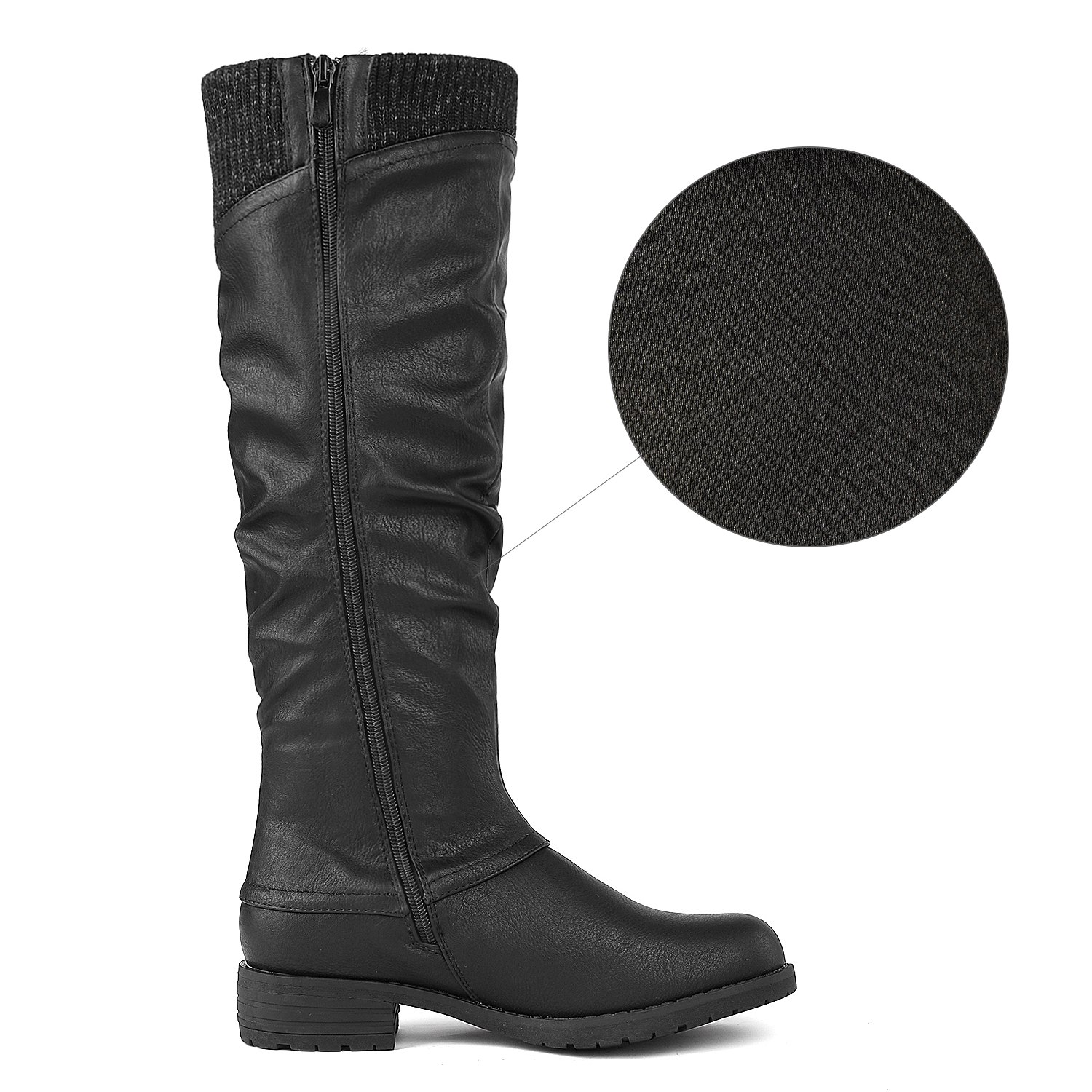 DREAM-PAIRS-Womens-DEPP-Cowgirl-Soft-PU-Leather-Combat-Knee-High-Riding-Boots thumbnail 7