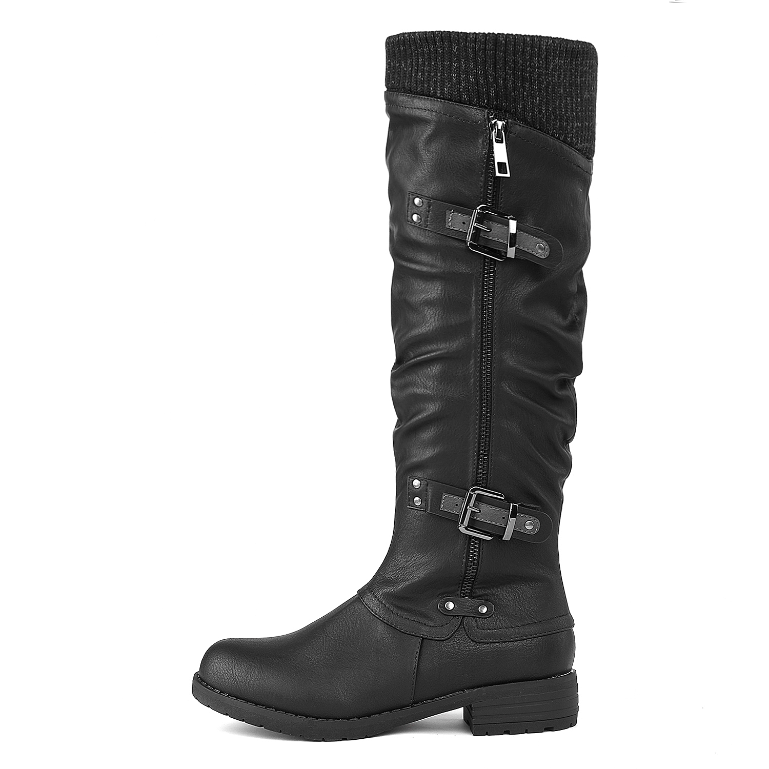DREAM-PAIRS-Womens-DEPP-Cowgirl-Soft-PU-Leather-Combat-Knee-High-Riding-Boots thumbnail 6
