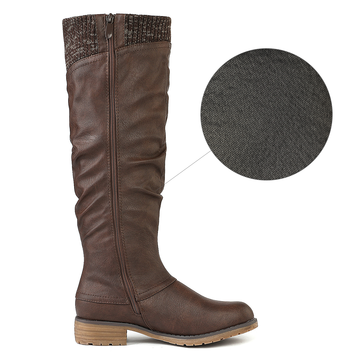 DREAM-PAIRS-Womens-DEPP-Cowgirl-Soft-PU-Leather-Combat-Knee-High-Riding-Boots thumbnail 14