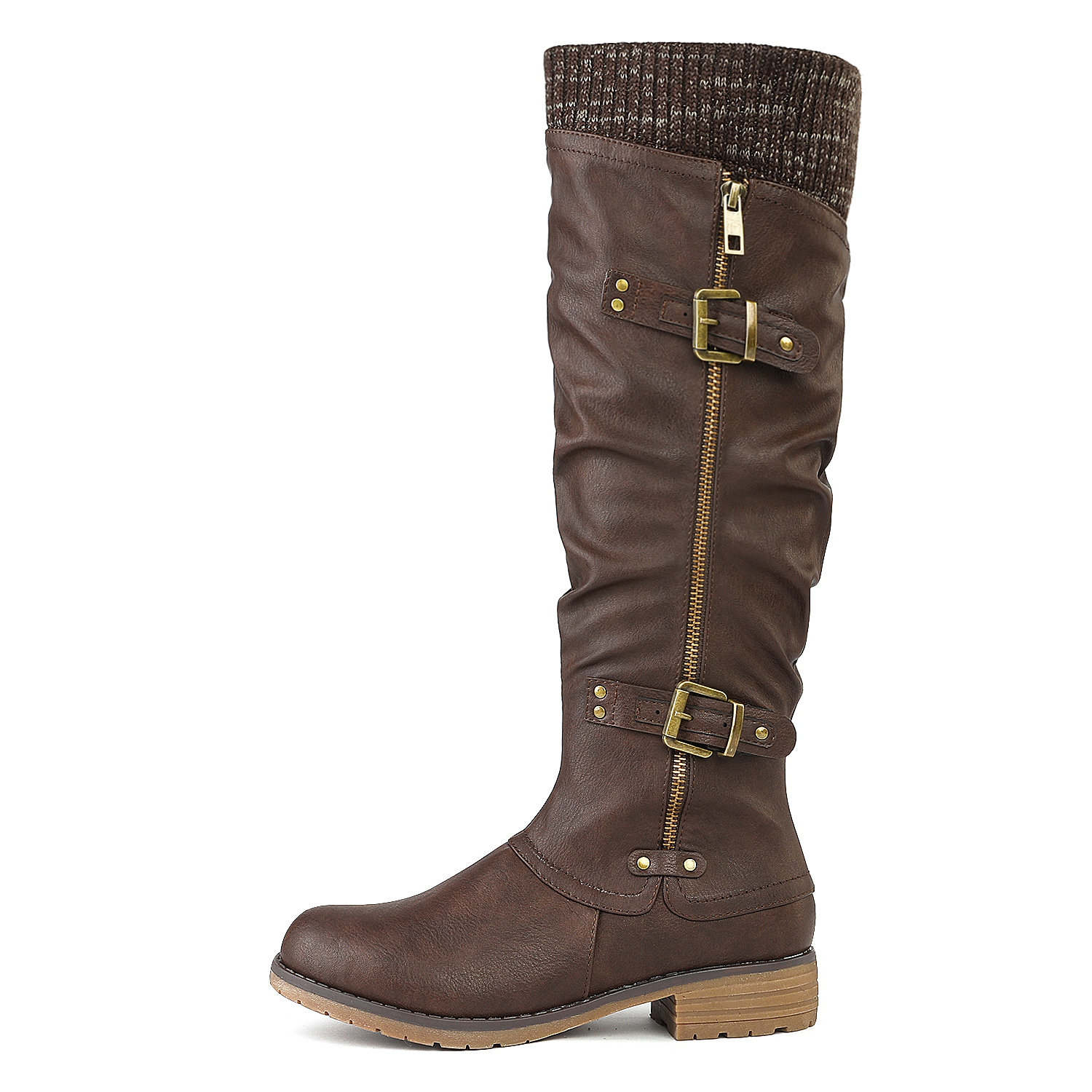 DREAM-PAIRS-Womens-DEPP-Cowgirl-Soft-PU-Leather-Combat-Knee-High-Riding-Boots thumbnail 13