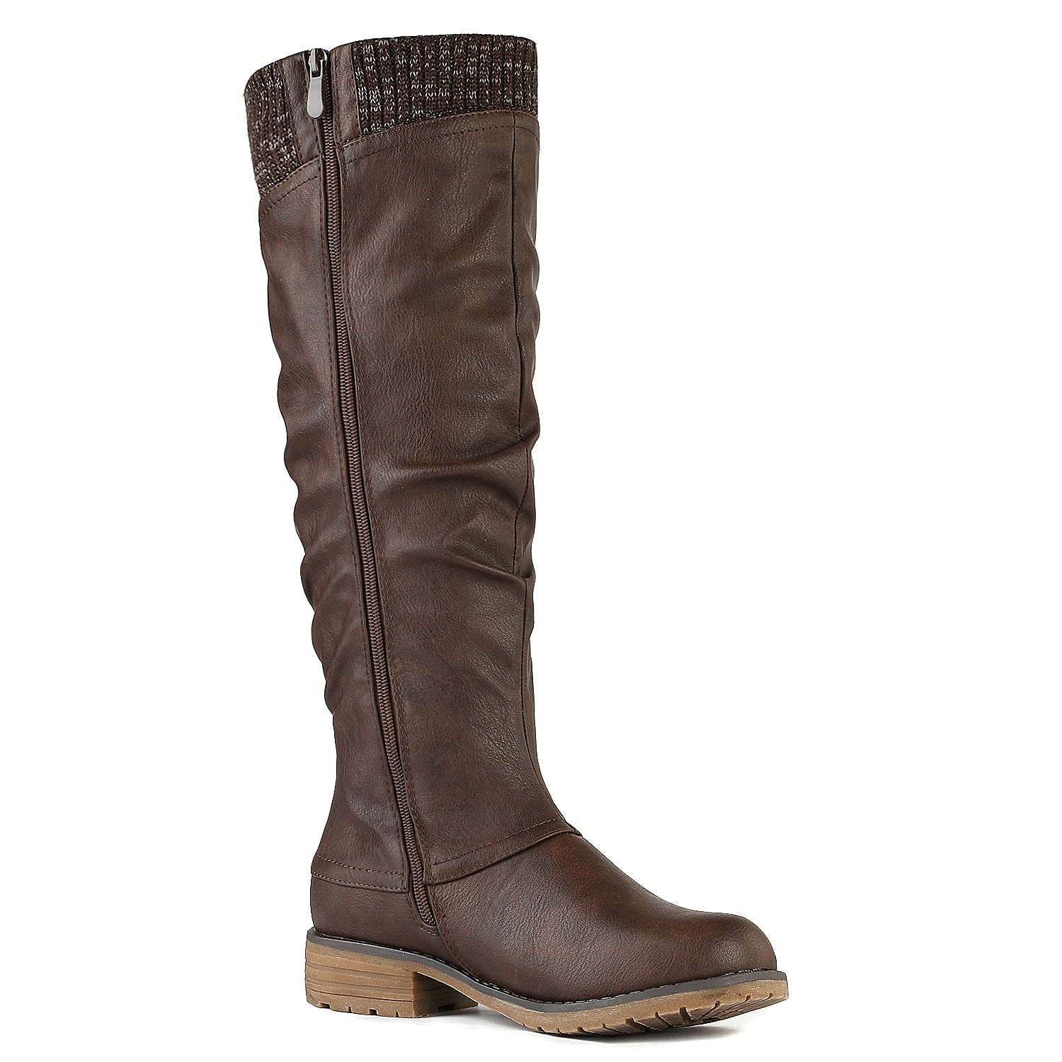 DREAM-PAIRS-Womens-DEPP-Cowgirl-Soft-PU-Leather-Combat-Knee-High-Riding-Boots thumbnail 15