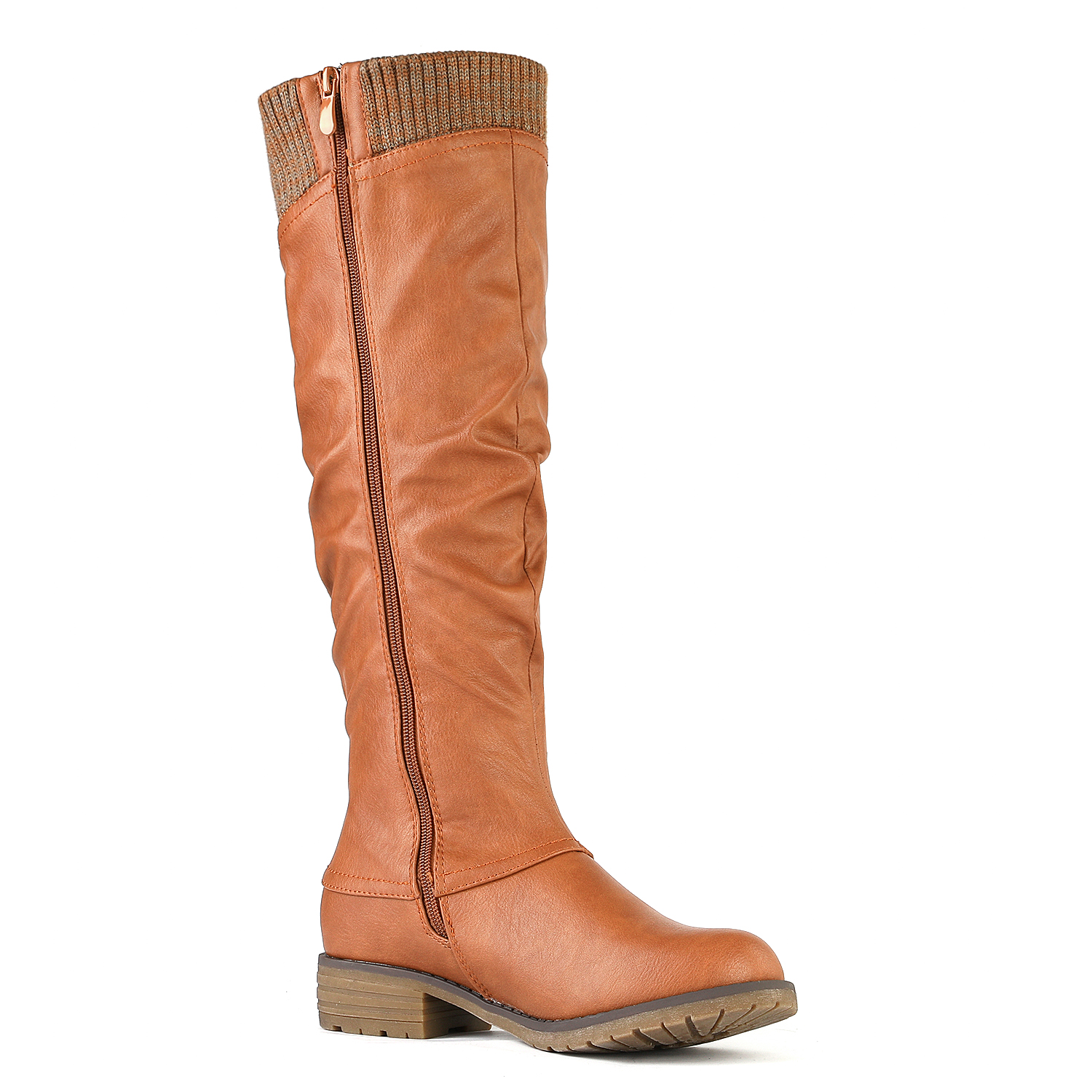 DREAM-PAIRS-Womens-DEPP-Cowgirl-Soft-PU-Leather-Combat-Knee-High-Riding-Boots thumbnail 22