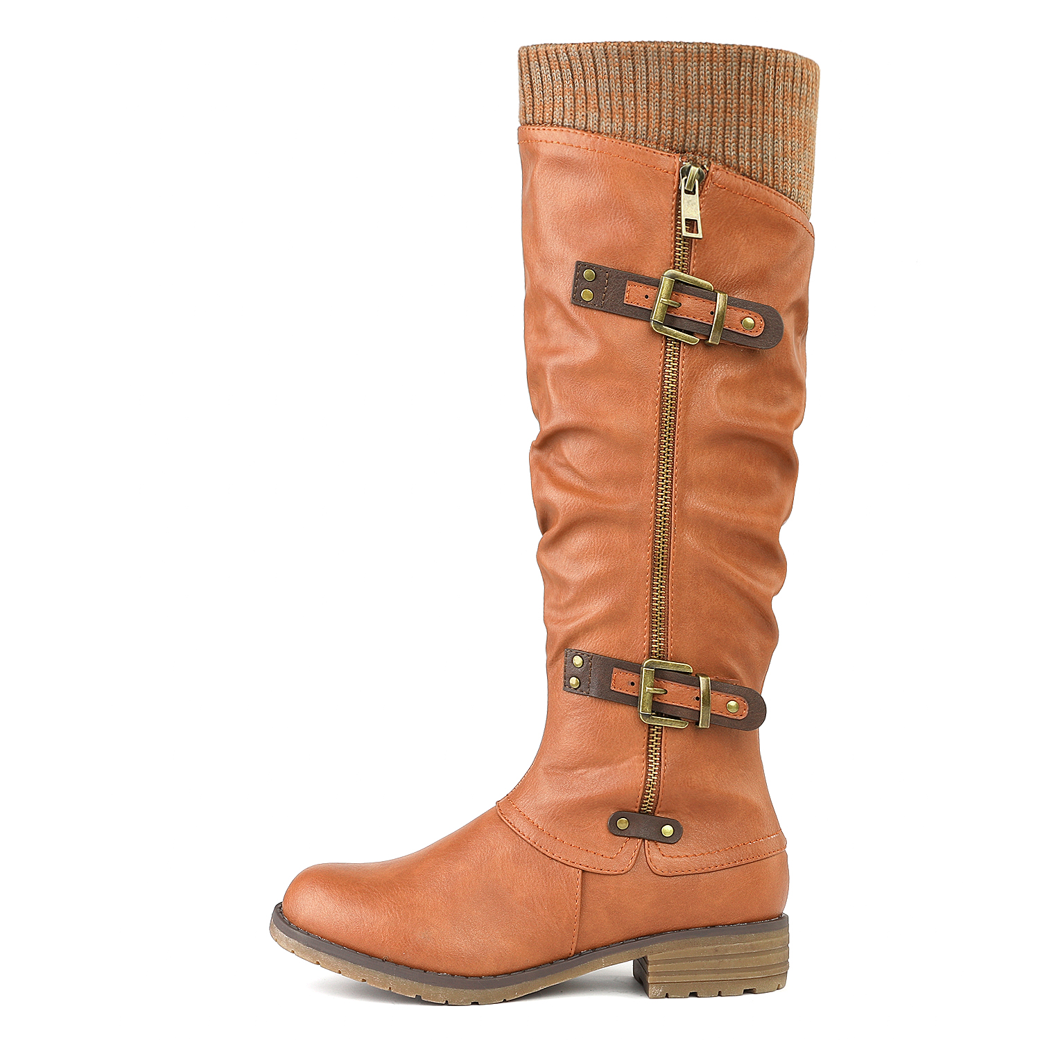 DREAM-PAIRS-Womens-DEPP-Cowgirl-Soft-PU-Leather-Combat-Knee-High-Riding-Boots thumbnail 20