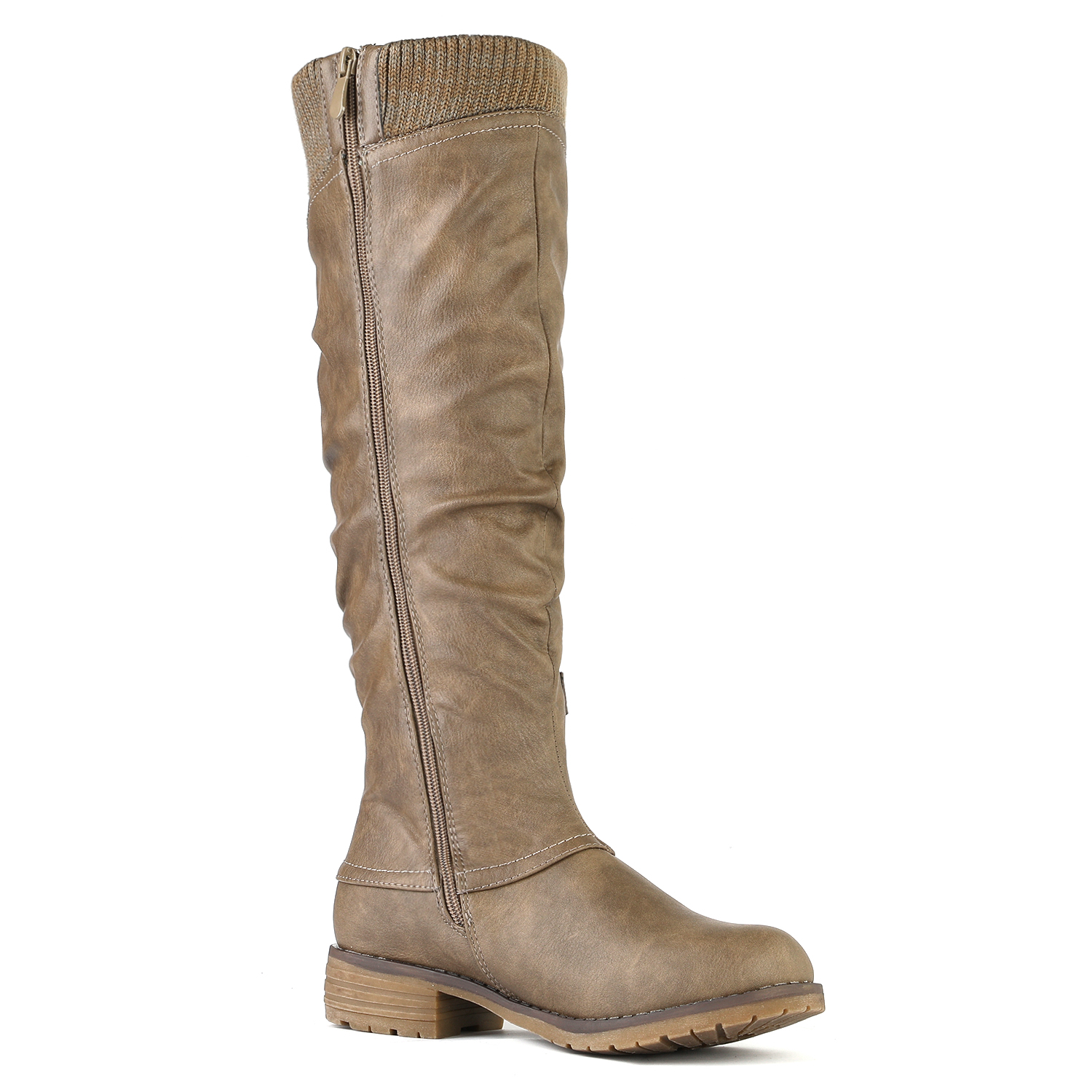 DREAM-PAIRS-Womens-DEPP-Cowgirl-Soft-PU-Leather-Combat-Knee-High-Riding-Boots thumbnail 29