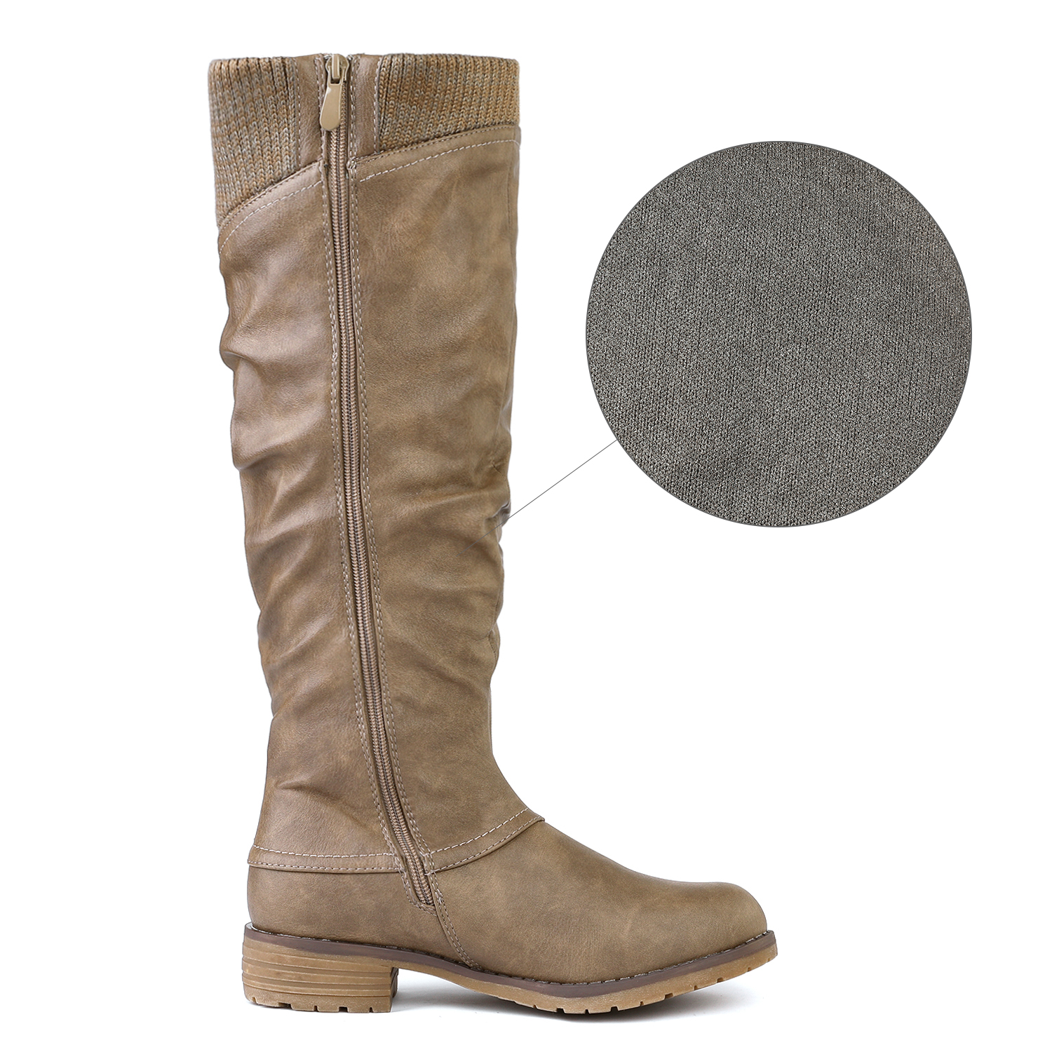 DREAM-PAIRS-Womens-DEPP-Cowgirl-Soft-PU-Leather-Combat-Knee-High-Riding-Boots thumbnail 28